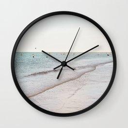 Beach day in Britain Wall Clock