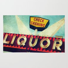 A Great Day Indeed: Check Cashing & Liquor! Rug
