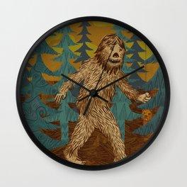 Bigfoot birthday card Wall Clock