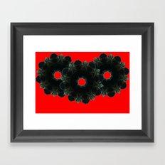 Black Upton Framed Art Print