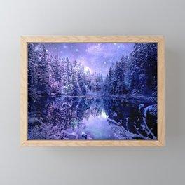 Lavender Winter Wonderland : A Cold Winter's Night Framed Mini Art Print