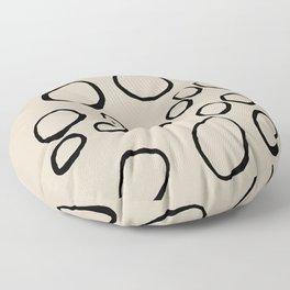 Daisy Circles Floor Pillow