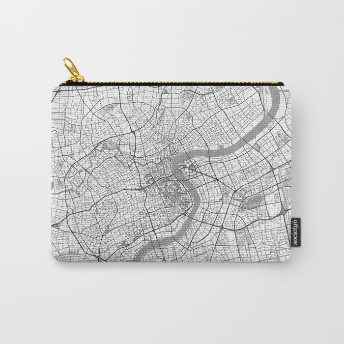 Shanghai Map Line Carry-All Pouch