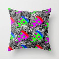 Pizza Invasion NYC Throw Pillow