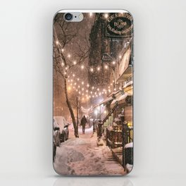 Snow - New York City - East Village iPhone Skin