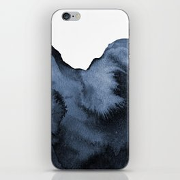 Watercolor Splash in Blue iPhone Skin