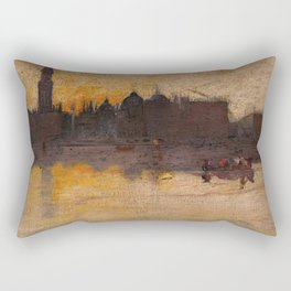 Tom Roberts - A Grey Day in Spring, Venice - Australian Oil Painting Rectangular Pillow