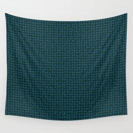 Blue dots on dark green - soft pastel Wall Tapestry