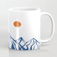napoleon Mugs featuring Napoleon Mountain by birdandtree