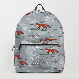 Little Mountain Foxes Grey Backpack