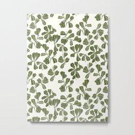 Fig Leaf Pattern Metal Print