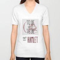 hamlet V-neck T-shirts featuring Hamlet by Typo Negative