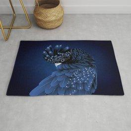 Australian Black Cockatoo Portrait Rug