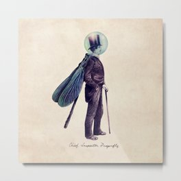 Inspector Dragonfly Metal Print