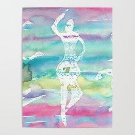 Dancing Ballerina and Sitting Man Poster