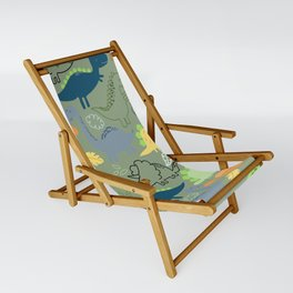 Dinosaurs jungle pattern Sling Chair