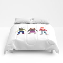 Harry, Hermione, and Ron Comforters