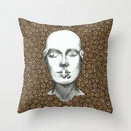 Buttoned up - Kraftpaper 8 Throw Pillow
