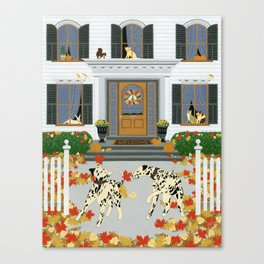 Autumn leaf game Canvas Print