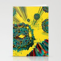 cyberpunk Stationery Cards featuring Coral Reef by Obvious Warrior