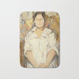 Rafael Barradas - Portrait of Pilar, 1919 Bath Mat