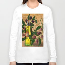 Olives and Italian Olive Oil Long Sleeve T-shirt