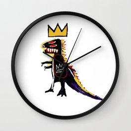 Basquiat Dinosaur King Wall Clock