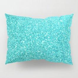 Aqua Blue Glitter Pillow Sham