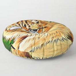 ORANGE TABBY CAT - Louis Wain's Cats Floor Pillow