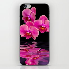 Mystical Pink Orchids Reflections iPhone Skin