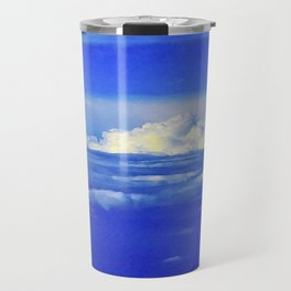 Sky Clouds Horizon Travel Mug
