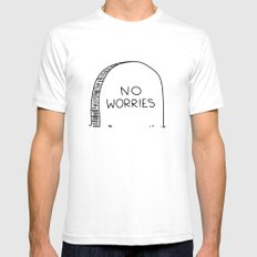 no worries Mens Fitted Tee White SMALL