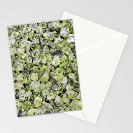 Olivine jewel heap Stationery Cards