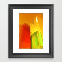 orange light Framed Art Print