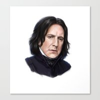 snape Canvas Prints featuring Sad Snape by Annike