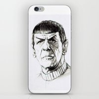 spock iPhone & iPod Skins featuring Spock by Sara (aka Wisney)