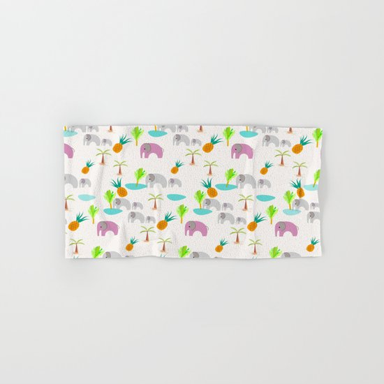 Pink Elephants Hand & Bath Towel