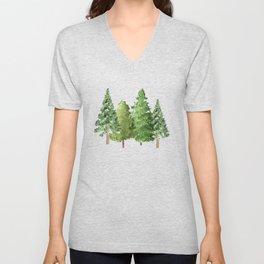 Christmas Pine Trees Unisex V-Neck