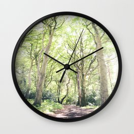 Whimsical Forest in Ireland Wall Clock
