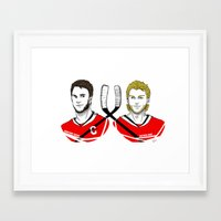blackhawks Framed Art Prints featuring Toews & Kane by Kana Aiysoublood