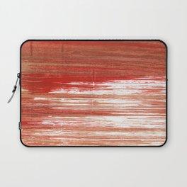 Medium carmine abstract watercolor Laptop Sleeve