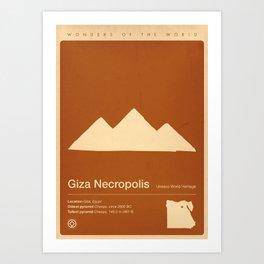 Giza Necroolis, Egypt Art Print