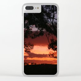 Sunset Through the Gum Trees Clear iPhone Case