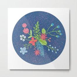 Modern Florals Metal Print