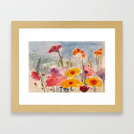 Flowers in the Feild Framed Art Print