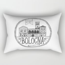 Palazzo Re Enzi, Bologna Rectangular Pillow