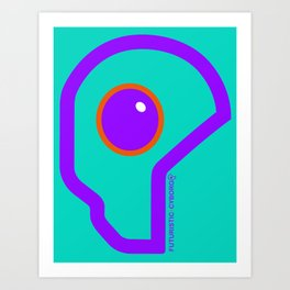 Futuristic Cyborg Logo 8 Art Print