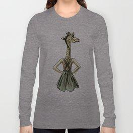 Giraffe Balet Long Sleeve T-shirt