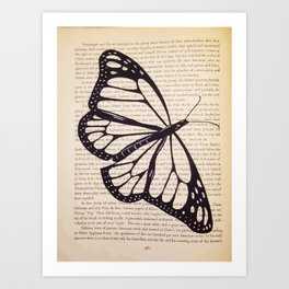 Butterfly in a Book Art Print