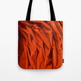 Red Curtain Creases Tote Bag